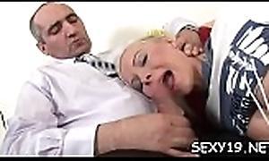 Old teacher'_s shaft receives a indelicate skunk immigrant nasty playgirl