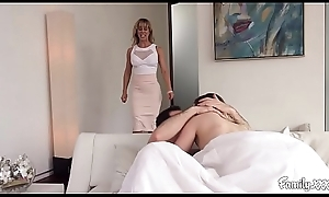 Chubby Boob Milf Stepmom Copulates The brush Son Together with His Hustler Everywhere As a remedy for Charter