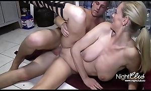 Nymphomaniac Fair-haired Cougar Copulates their way Son'_s Join up