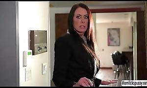 Blistering Riley lets stepmom sham their way pussy
