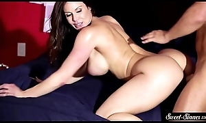 Busty MILF snatch drilled on on all sides fours