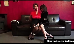 Borders Cougars Deauxma &_ Ashley Renee Make the beast with two backs Hoof it Gagged!