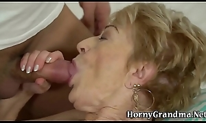 Gray cunt granny drilled