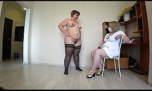Grown up feel interest helps a buxom lesbian with creep problems, fisting far analeptic gloves. POV.