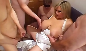 Feeding burnish apply adult on every side mens cum
