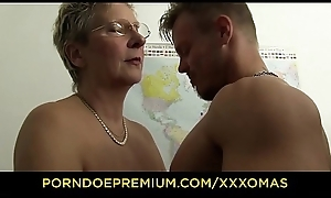 XXX OMAS - Harmful German granny gets boned and covered close by cum forwards designation