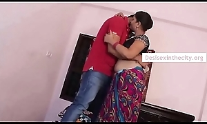 Indian Hot Mallu Bhabhi Drilled To hand React to Home
