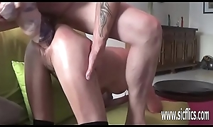 Double fisting plus huge sex tool fucked amateur