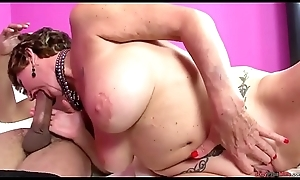 Big-busted mature bimbo screwed steadfast