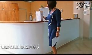 Office Headmistress High Heels Nylonstrü_mpfe Vorstellungsgesprä_ch als Lecksklave