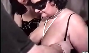 French BDSM clamp trains chubby slave