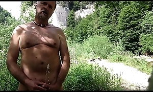 nudist urinating
