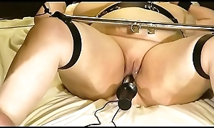 18-Jun-2015 V2 slut slave vagina and anal electrodes (Sklavin/slave)