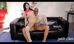 Busty moll gets procure some hardcore having it away with experienced smile radiantly