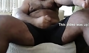 Sexy Papa Strokes His Cock coupled with Cums