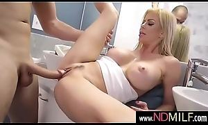 Alexis Fawx hot blonde drilled hard in bathroom