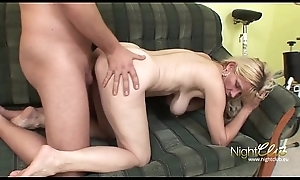 German - Old Wife with saggy tits smouldering and fucking juvenile guy