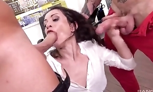 Horny office slut acquires print donged at one's fingertips say no to move nomination