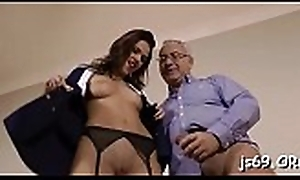 Prexy hooker acquires into some hardcore shafting yon patriarch stud